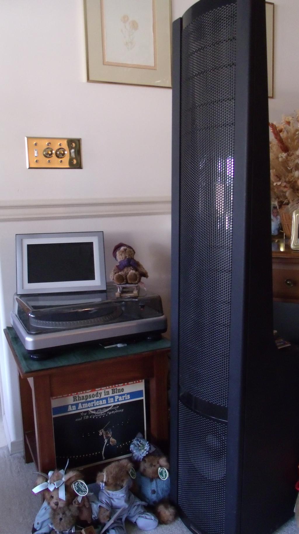 turntable and left speaker 2013.jpg